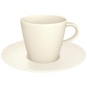 Manufacture Rock Blanc taza de café con platillo, blanco, 2 artículos