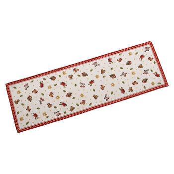 Toy's Delight camino de mesa L de tapiz, rojo/varios colores, 32 x 96cm
