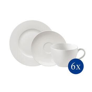 vivo   Villeroy & Boch Group Basic White Juego de Café 18piezas