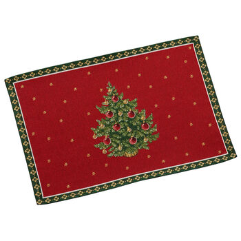 Toy's Delight salvamanteles de tapiz con motivo de árbol, rojo/varios colores, 32 x 48cm