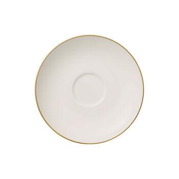 Anmut Gold plantillo para taza de café, blanco/oro