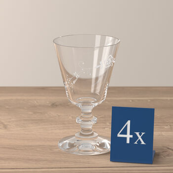 Vieux Luxembourg copa de vino blanco, 4 unidades