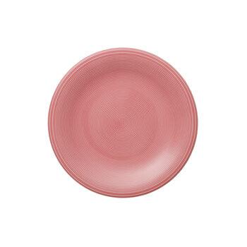 Color Loop Rose plato de desayuno de 21 x 21 x 2 cm