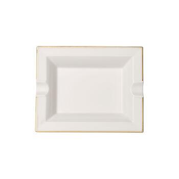 Anmut Gold cenicero, 17 x 21 cm, blanco/oro
