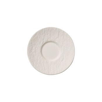 Manufacture Rock Blanc platillo para taza de moca y expreso, 12 cm