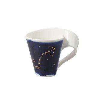 NewWave Stars taza con motivo de Escorpio, 300 ml, azul/blanco