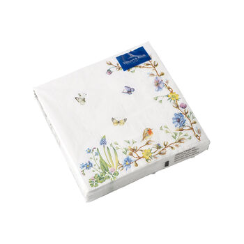 Easter Accessories servilletas, zarcillo de flores, 25 × 25 cm, 20 unidades