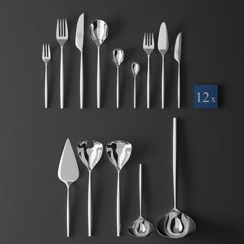 MetroChic cubertería de mesa, 113 piezas, Lunch