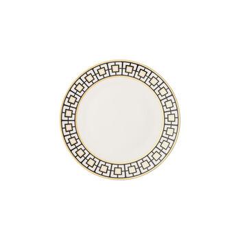 MetroChic plato para pan, blanco, negro y oro