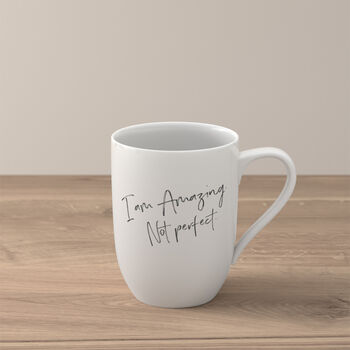 "Statement Taza ""I´m amazing. Not perfect"""