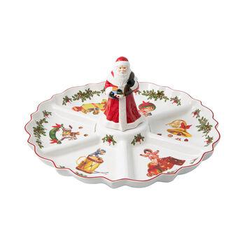 Toy's Fantasy plato dividido con motivo nostálgico, varios colores/rojo/blanco, 38 x 38 x 19 cm