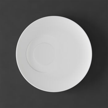 MetroChic blanc Plato taza café 18,5x18,5x2cm