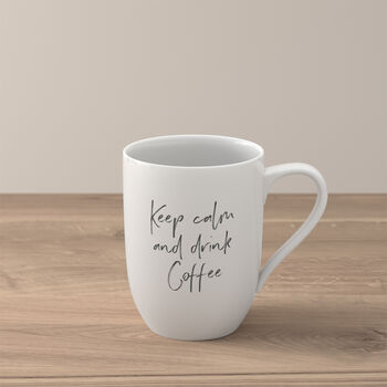 """Statement Taza """"Keep calm and drink coffee"""""""