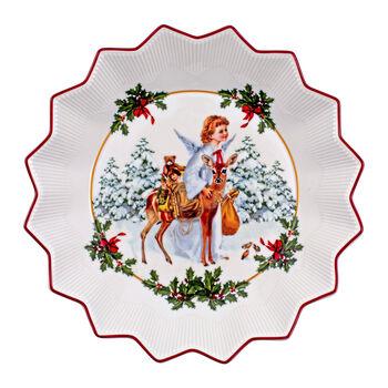 Toy's Fantasy fuente grande con motivo de Niño Jesús, varios colores/rojo/blanco, 24 x 24 x 4,5 cm