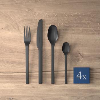 Cubertería de mesa Manufacture Rock, para 4 personas, 16 piezas, negro