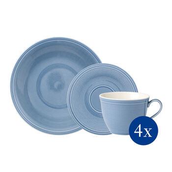 Color Loop Horizon set de café, azul celeste, 12 piezas