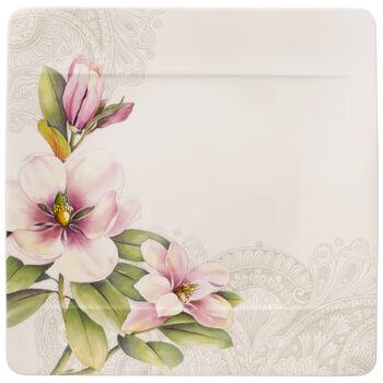 Quinsai Garden plato llano con motivo D de magnolias