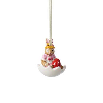 Bunny Tales adorno Anna dentro de la cáscara de huevo