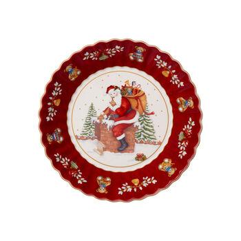 Toy's Fantasy fuente grande con motivo de Papá Noel en el tejado, rojo/varios colores, 25 x 25 x 5cm