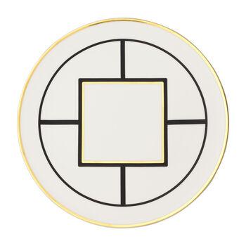 MetroChic plato de presentación y para tartas, diámetro de 33 cm, blanco, negro y oro