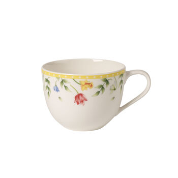 Spring Awakening taza de café con motivo de campo de flores