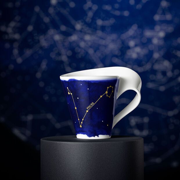 NewWave Stars taza con motivo de Piscis, 300 ml, azul/blanco, , large
