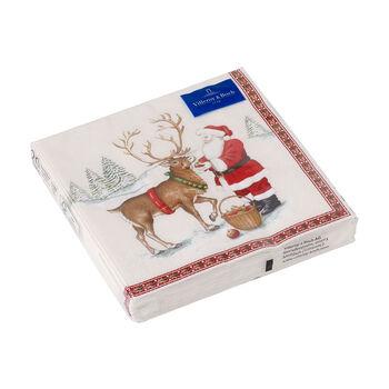 Winter Specials servilletas para almuerzo con motivo de reno, marrón/varios colores, 20 unidades, 33 x 33 cm
