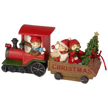 Winter Collage Accessoires Tren Navidad con niños 29x8x13,5cm