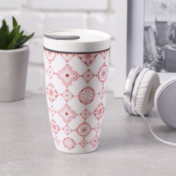 Modern Dining To Go Rosé taza grande de café para llevar, , large