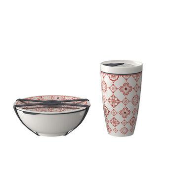 Set de desayuno like.by Villeroy & Boch To Go, Rosé, 2 piezas