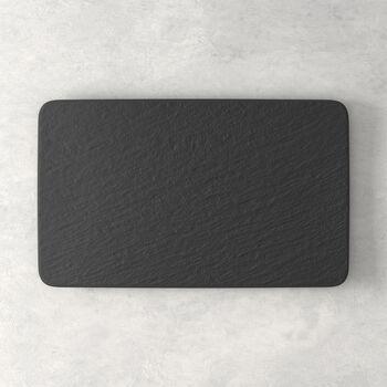 Manufacture Rock plato multifuncional rectangular, negro/gris, 28 x 17 x 1 cm