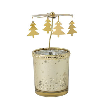 Winter Collage Accessoires Linterna de cristal dorado 13cm