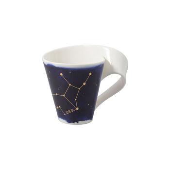 NewWave Stars taza con motivo de Virgo, 300 ml, azul/blanco