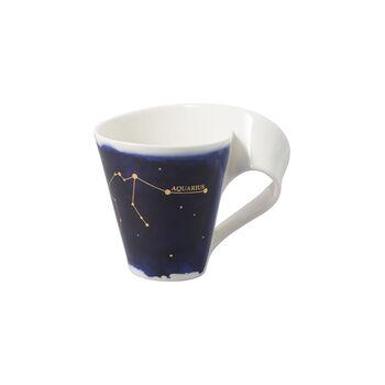 NewWave Stars taza con motivo de Acuario, 300 ml, azul/blanco