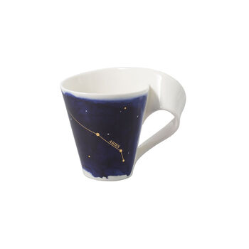 NewWave Stars taza con motivo de Aries, 300 ml, azul/blanco