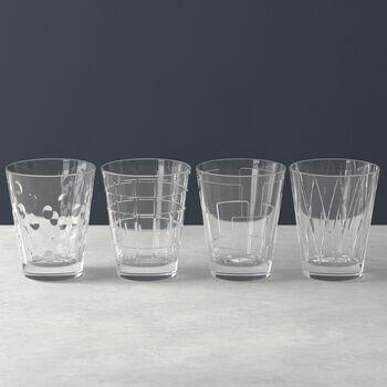 Dressed Up set de 4 vasos de agua Clear