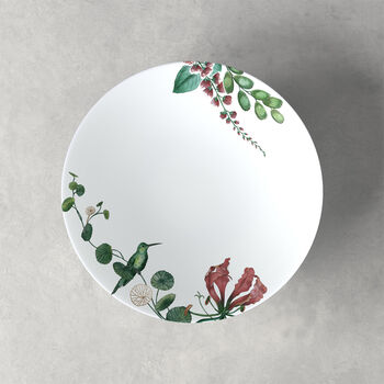 Plato hondo Avarua, 22cm, blanco/multicolor