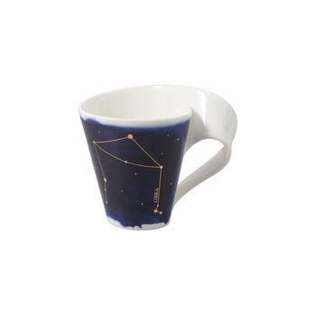 NewWave Stars taza con motivo de Libra, 300 ml, azul/blanco