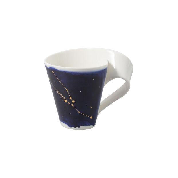 NewWave Stars taza con motivo de Tauro, 300 ml, azul/blanco, , large