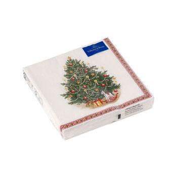 Winter Specials servilletas para cócteles con motivo de árbol de Navidad, verde/varios colores, 20 unidades, 25 x 25cm