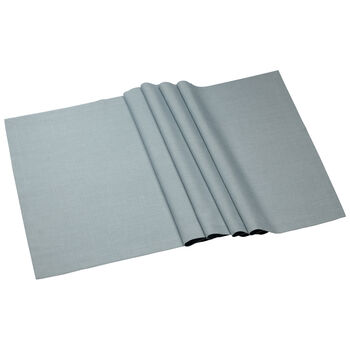 Textil Uni TREND Camino de mesa blue fox 77 50x140cm