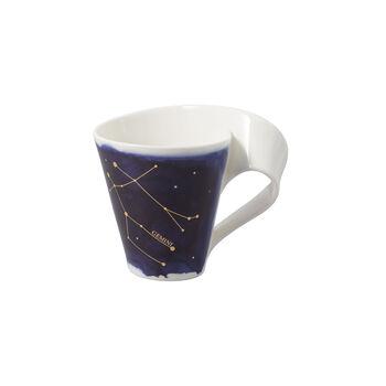 NewWave Stars taza con motivo de Géminis, 300 ml, azul/blanco