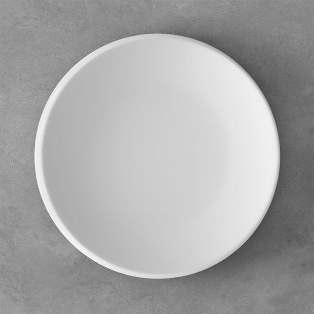NewMoon plato llano, 27 cm, blanco, , large
