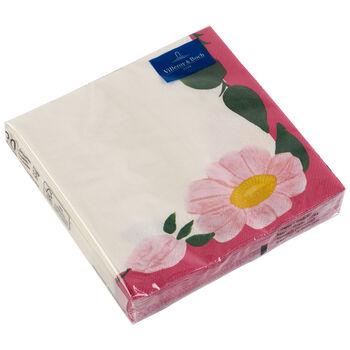 Servilletas de papel Rose Sauvage Framboise, 20 unidades, 33x33cm