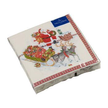 Winter Specials servilletas para almuerzo con motivo de Papá Noel, varios colores, 20 unidades, 33 x 33 cm