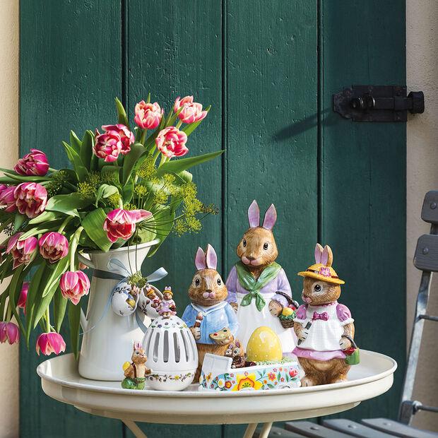Bunny Tales huevo con portavelas té Anna, 16 cm, varios colores, , large