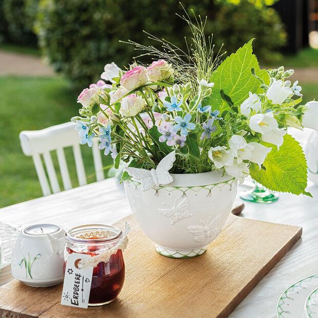 Colourful Spring jarrón pequeño, blanco/verde, , large