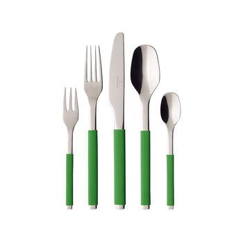 S+ Green Apple cubertería de mesa de 30 piezas
