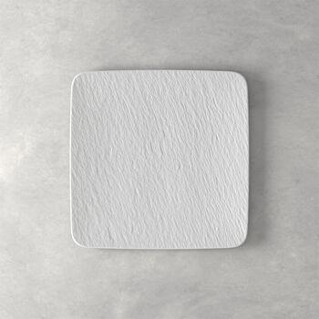 Manufacture Rock Blanc fuente para servir y plato gourmet cuadrado, blanco, 32,5 x 32,5 x 1,5 cm