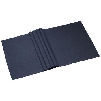 Textil Uni TREND Camino de mesa vintage blue 50x140cm